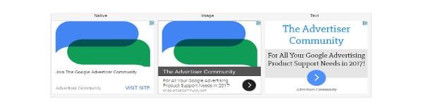 anuncios adaptables en la red display