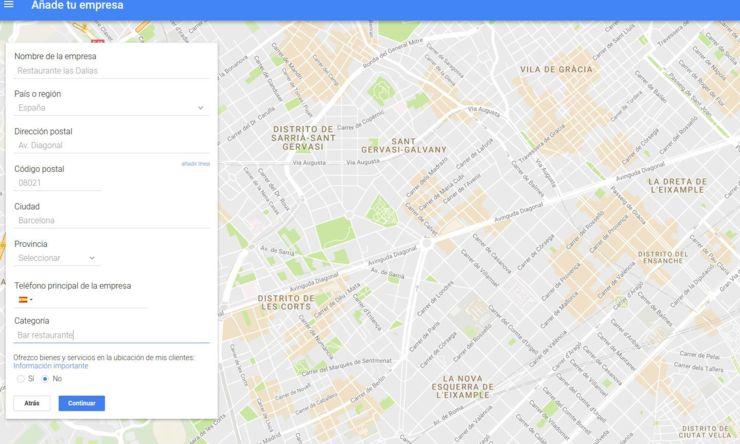 Reclamar empresa Google