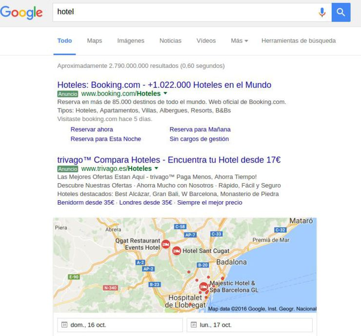 red de búsqueda Google