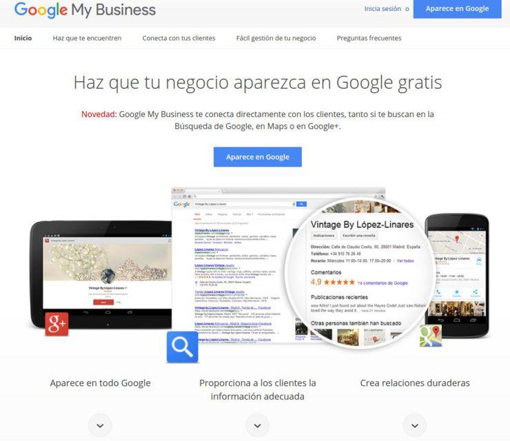 Iniciar Google MyBusiness
