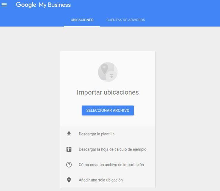 Como subir nuevas ubicaciones en Google Mybusiness