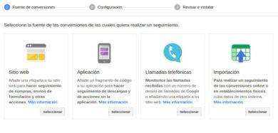 Conversiones Google Adwords